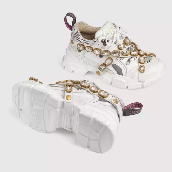 Sneakers Crystal Gold Shoes | Poshmark